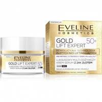 Дневной ночной крем для лица Eveline Cosmetics с 24К золотом Gold Lift Expert 50+ 50 мл 66135, КОД: 1089706
