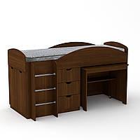 Кровать чердак Универсал Компанит Орех экко, КОД: 126354