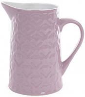 Кувшин керамический Bona Нежный орнамент 860 мл Фиолетовый sni32311655, КОД: 1210520