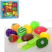 Продукты HL8701-HL8801 (18шт) на липучке,ягоды,фрукты, досточка, нож,2вида, в кор-ке,35,531,5-6,5см