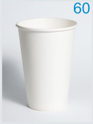 Стакан паперовий білий 340 мл, Ø 80, 50 шт/уп., 42 уп/ящ.