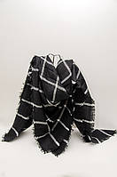 Шарф - плед  Joya 140 x 140 см Черный с белым 472019, КОД: 390729