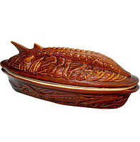 Супник-жаровня Осетр Яскрава кераміка 1.5 л с крышкой ST-50228-OSETpsg, КОД: 175971