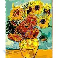 Рисование по номерам Подсолнухи Ван Гог