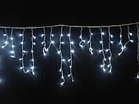 """Светодиодная гирлянда для улицы """"Занавес/бахрома"""" 3м*0.5м IP-44, 100 LED, белый провод"""