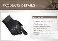 Перчатки тактические Oakley Black Размер  L-XL с закрытыми пальцами и усиленным протектором