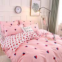 Комплект постельного белья Сердца (двуспальный-евро) Berni