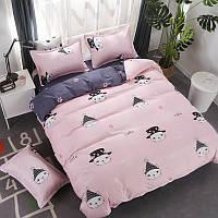 Комплект постельного белья Кот в шляпе (двуспальный-евро) Berni