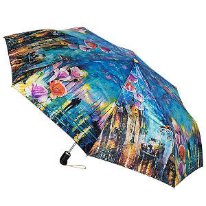 Зонт  женский Zest 83744-004, полный автомат, 3 сложения, сатин.