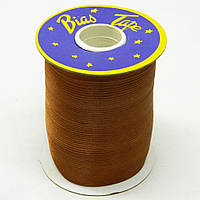 Косая бейка Super 3146 атласная 1.5 см х 100 м Коричневая Bios-3146, КОД: 1314916