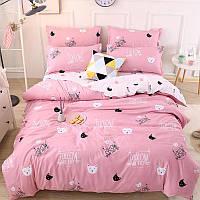 Комплект постельного белья Коты (двуспальный-евро) Berni