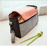 Сумка-органайзер для детской коляски Kronos Top Розовая tps356-19021473, КОД: 1125723