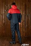 Зимовий спортивний костюм чоловічий (Куртка і штани Розмір 46 48 50 52 54 В наявності 4 кольори, фото 5