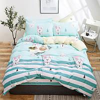 Комплект постельного белья Белый зайчик (двуспальный-евро) Berni