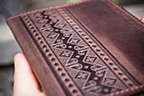 Обложка для паспорта ЭТНО орнамент коричневый 9.5*13.5см 01-8КО, фото 2