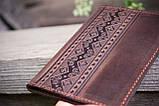 Обложка для паспорта ЭТНО орнамент коричневый 9.5*13.5см 01-8КО, фото 4