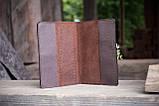 Обложка для паспорта ЭТНО орнамент коричневый 9.5*13.5см 01-8КО, фото 5
