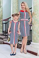 Платья в полоску для дочки и мамы