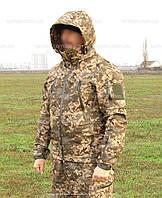 Куртка камуфлированная. Оригинальная ткань softshell (ветровлагозащитная), фото 1