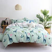Комплект постельного белья Жирафы (двуспальный-евро) Berni