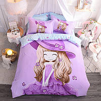 Комплект постельного белья Девочка и фиалка (двуспальный-евро) Berni