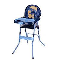 Стульчик для кормления Kronos Toys HC100A Сине-голубой intHC100A BLUE, КОД: 961671