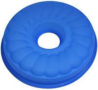 Форма для выпечки кексов Hauser Калач силикон 26.5 см Синий HH029psg, КОД: 168187