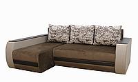 Угловой диван Garnitur.plus Граф коричнево-бежевый 245 см DP-235, КОД: 181471