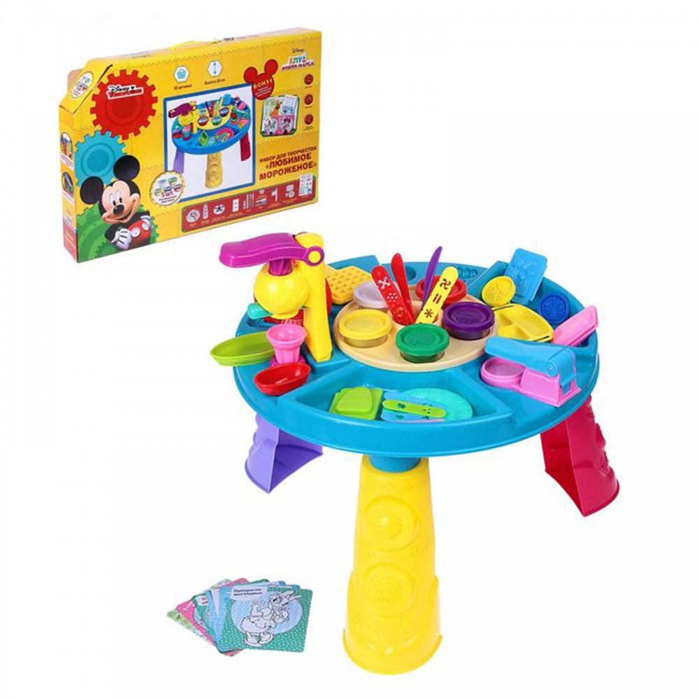 Столик с тестом для лепки и формочками 9325