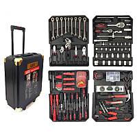 Набот инструментов ключей LEX 186ед. в стальном чемодане на колесиках с выдвижной ручкой черный, фото 1