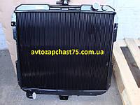 Радиатор Газ 33104  Валдай 2-х рядный, медный (производитель Оренбург)