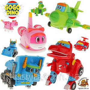 Команда Дино набор из 4 героев трансформеров Go Go Dino - динозавры трансформеры