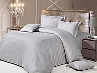 Комплект постельного белья Love You Евро Страйп-сатин 200х220 см Серый psgLY-SS-GREY-2, КОД: 944334