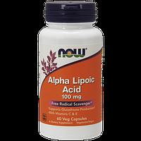 Альфа-липоевая кислота NOW Alpha Lipoic Acid 100 мг (60 капс)