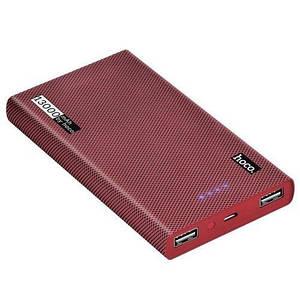 Power Bank Hoco B36 Wooden 13000mAh Серый/Красный