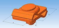 Соединитель универсальный для быстрого монтажа алюминиевый толщиной 2 мм.