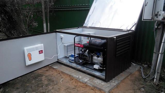 Установка бензинового генератора в Вишневом -1