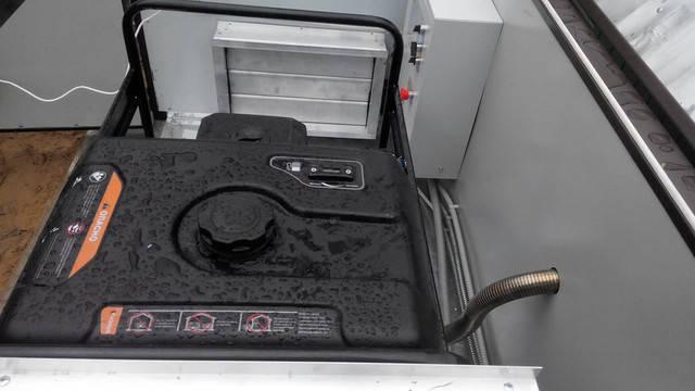 Система газовыхлопа для генератора