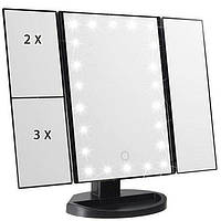 Зеркало Superstar Magnifying Mirror для макияжа с LED-подсветкой Черный 210026, КОД: 1251460