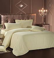 Комплект постельного белья Love You Евро Страйп-сатин 200 х 220 см Кремовый psgLY-SS-CREM-2, КОД: 944301