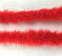 Перья боа 7 см/2 м, красные