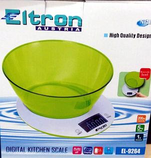 """Весы кухонные с чашей """"ELTRON"""", фото 2"""