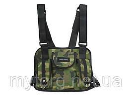 Нагрудная сумка Hgul Bag мужская  Камуфляж