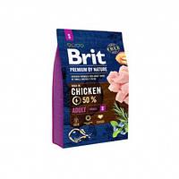 Brit (Брит) Полнорационный корм для взрослых собак маленьких пород до 10кг Brit Premium Adult S 3кг