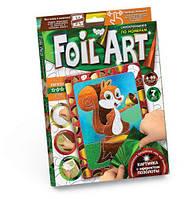 Аппликация разноцветной фольгой Dankotoys FOIL ART Белочка TOY-38603, КОД: 1323539
