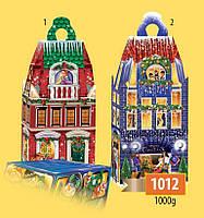 Новогодняя подарочная коробочка для конфет и сладостей 1000гр №1012 200шт/ящ КД.