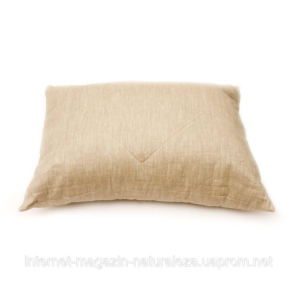 Подушка льняная с антиаллергенным наполнителем 40х60