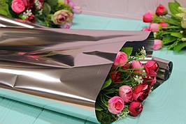 Металлизированная пленка для цветов 60см/0,3кг - Серебро