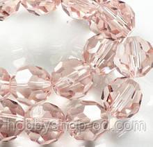 Бусины хрустальные шар 6 мм персиковые (72 шт) кр. огранка