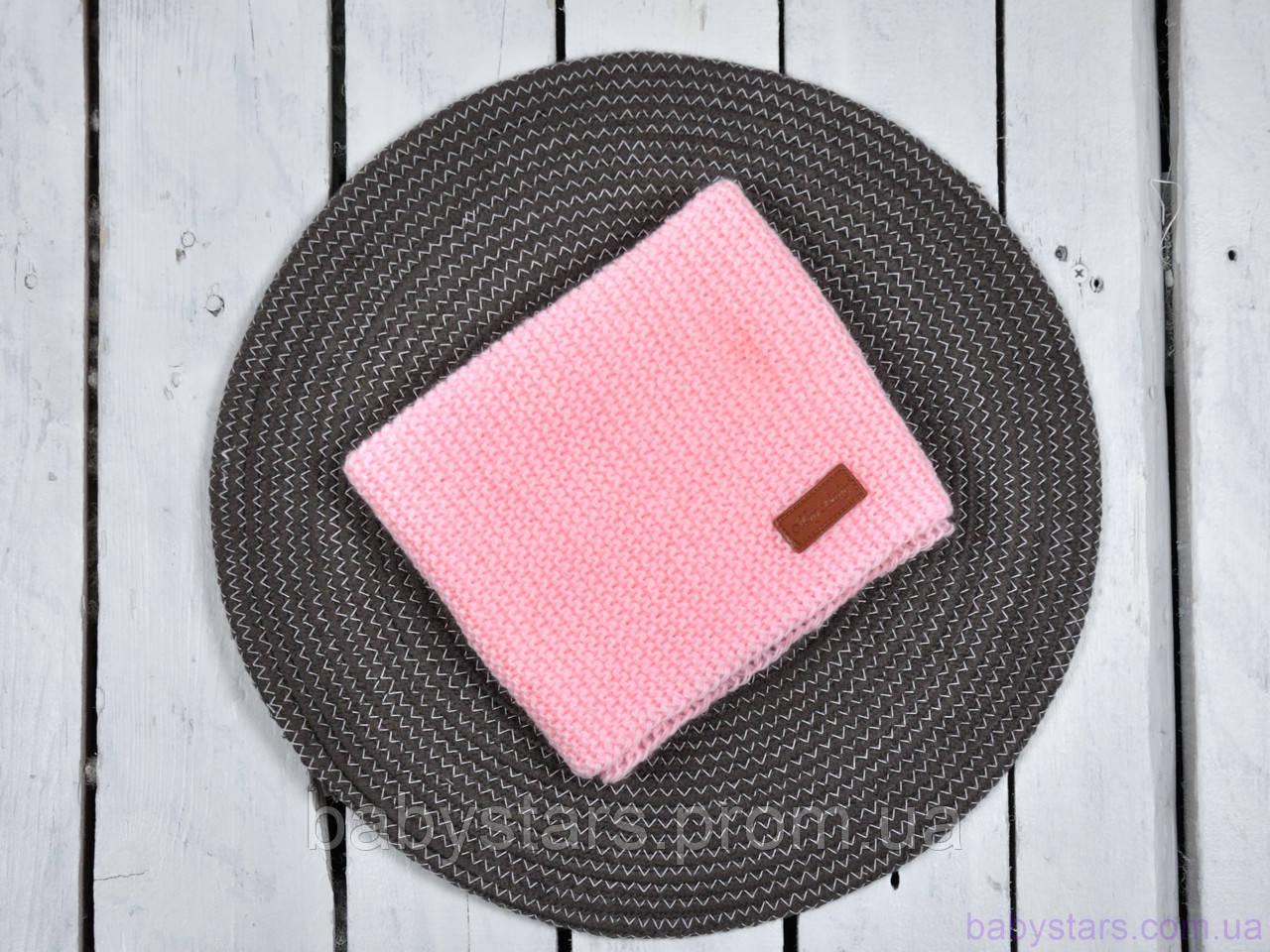 Детский снуд, розового цвета